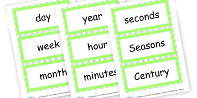 Time Vocabulary Cards - KS2 Time Visual Aids Primary Resources, Time, Time Telling Aids