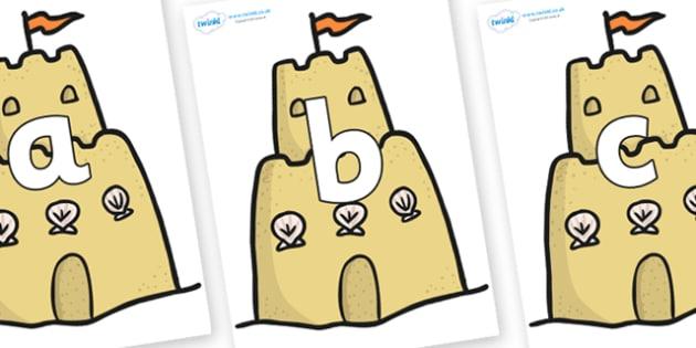 Phoneme Set on Sandcastles - Phoneme set, phonemes, phoneme, Letters and Sounds, DfES, display, Phase 1, Phase 2, Phase 3, Phase 5, Foundation, Literacy