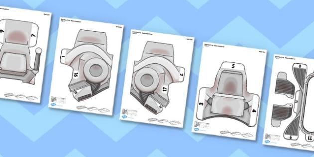 Robot Printable Role-Play Headdress - robot, role-play, headdress