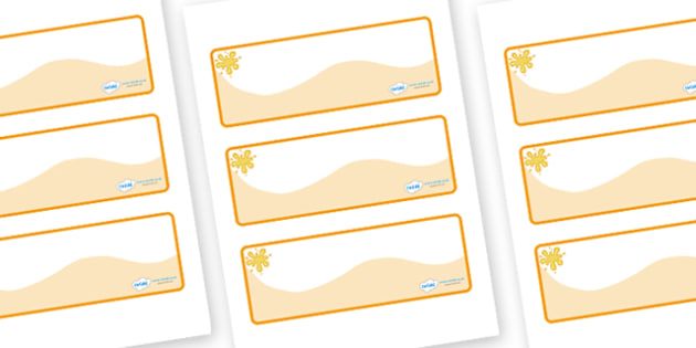 Amber Themed Editable Drawer-Peg-Name Labels (Colourful) - Themed Classroom Label Templates, Resource Labels, Name Labels, Editable Labels, Drawer Labels, Coat Peg Labels, Peg Label, KS1 Labels, Foundation Labels, Foundation Stage Labels, Teaching La