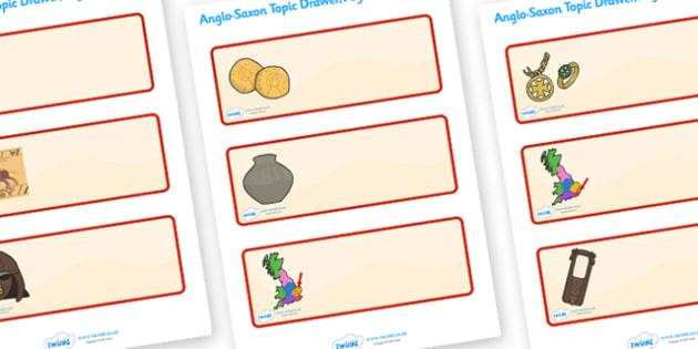 Anglo Saxons Editable Drawer Peg Name Labels - Anglo Saxon, Saxons, Anglo-saxon, history, Wren Label Templates, Resource Labels, Name Labels, Editable Labels, Drawer Labels, Coat Peg Labels, Peg Label, KS1 Labels, Foundation Labels, Foundation Stage