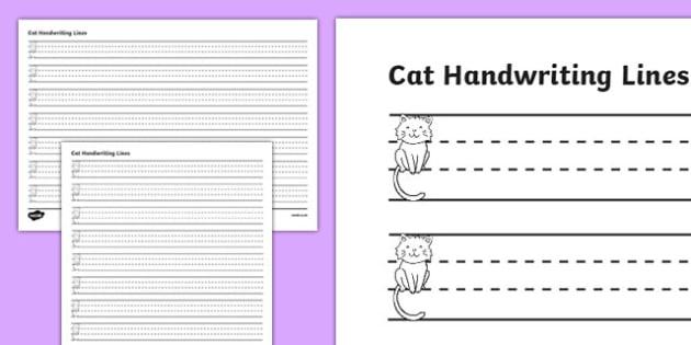 Cat Thirds Handwriting Lines - cat, thirds, handwriting lines, handwriting, writing