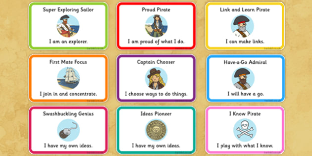 Pirate Themed Characteristics of Effective Learning Stickers - pirate, characteristics, effective learning