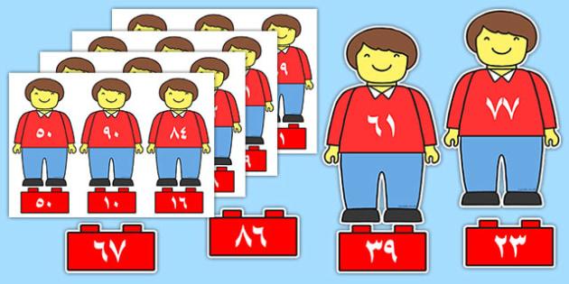 نشاط مطابقة مكونات العدد 100 - الأعداد، حساب، مكونات العدد، شيتات