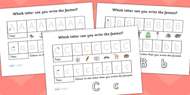 Uppercase and Lowercase Letter Timed Race Worksheet - Uppercase and lowercase letter timed race worksheet, uppercase, lowercase, practice, race, worksheet, timed race, game, activity, letters, sheet
