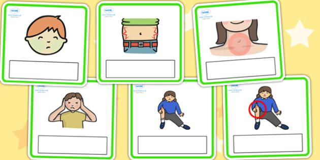 Editable Emergencies Cards - editable, emergencies, editable, cards, editable cards, editable cards, english, themed cards, emergencies cards