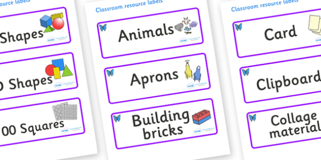 Butterfly Themed Editable Classroom Resource Labels - Themed Label template, Resource Label, Name Labels, Editable Labels, Drawer Labels, KS1 Labels, Foundation Labels, Foundation Stage Labels, Teaching Labels, Resource Labels, Tray Labels, Printable