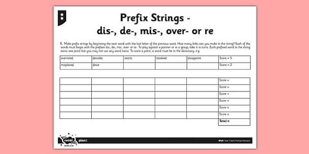 Prefix Strings - GPS, Prefixes, Root Words, strings, prefix strings