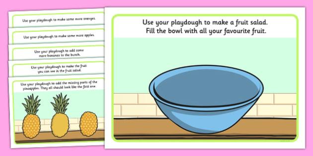Fruit Salad Playdough Mats - olivers fruit salad, fruit salad, playdough mats, playdough, mat
