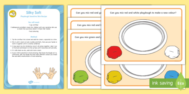 Colour Mixing Playdough Recipe and Mat Pack