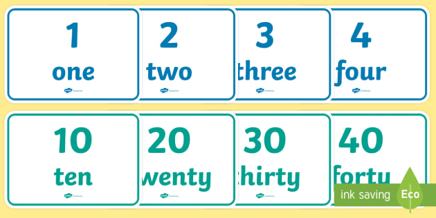 English Numbers A4 Display Posters - english, numbers, 14, display posters, display, posters