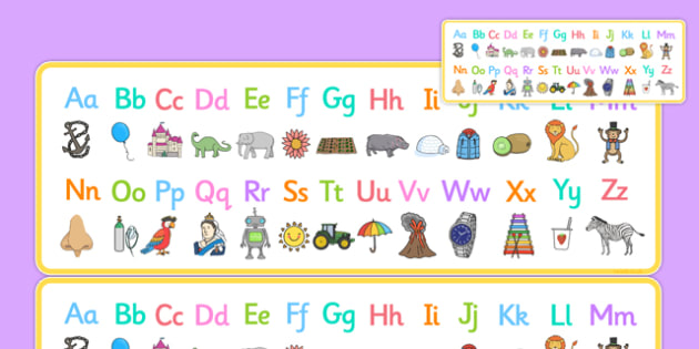 A to Z Alphabet Strips Romanian Translation - alphabet, letters, upper, lower, case, learn, letter, early years, romanian