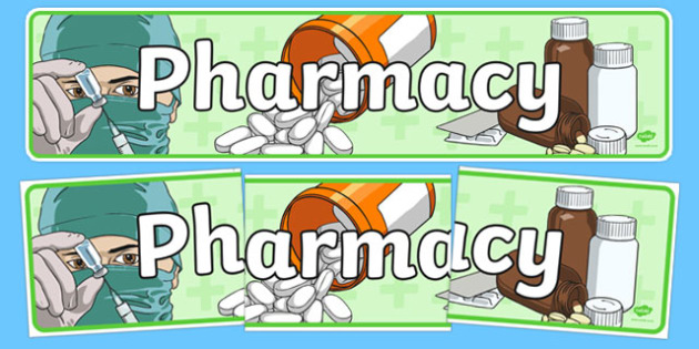 Pharmacy Role Play Display Banner - doctors, roleplay, props