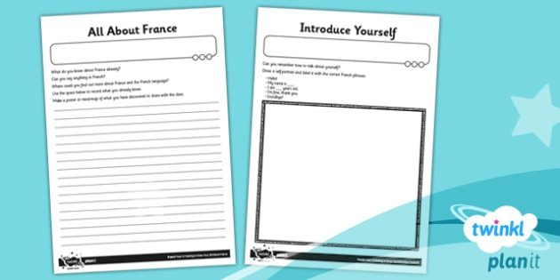 PlanIt - French Year 3 - Getting to Know You Home Learning Tasks