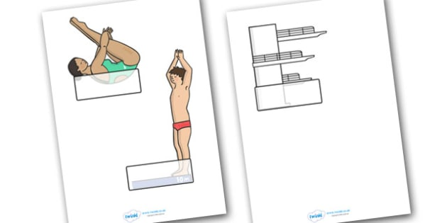 The Olympics Diving Self Registration - Diving, Olympics, Olympic Games, sports, Olympic, London, 2012, Self registration, register, editable, labels, registration, child name label, printable labels, activity, Olympic torch, events, flag, countries,