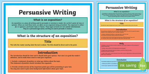 Year 5 Persuasive Writing Structure A4 Display Poster-Australia