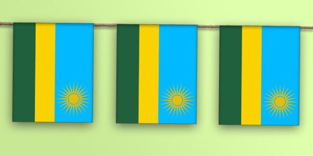 Rwanda Flag Display Bunting - countries, geography, display