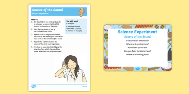 EYFS Source of the Sound Science Experiment and Prompt Card Pack