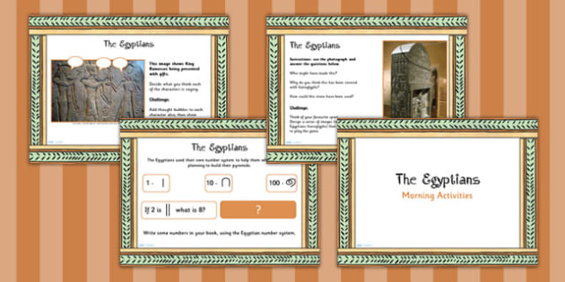 1 Week Egyptian Topic Morning Activities UKS2 - ancient egypt