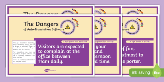 European Day of Languages Translation Howlers Display Posters