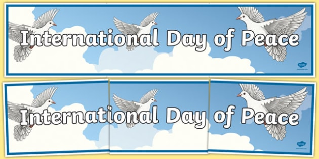 International Day of Peace Display Banner