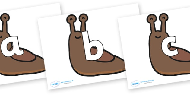 Phoneme Set on Slugs - Phoneme set, phonemes, phoneme, Letters and Sounds, DfES, display, Phase 1, Phase 2, Phase 3, Phase 5, Foundation, Literacy