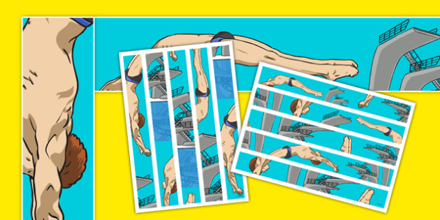 The Olympics Diving Page Borders - water, sport, Rio olympics, display, dive