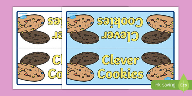 Clever Cookies Group Table Sign - clever cookies, group table sign, table sign, sign, display