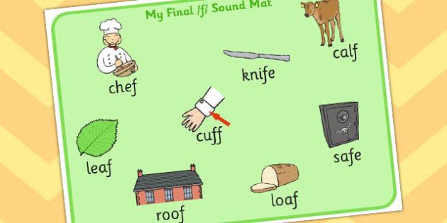 Final F Sound Word Mat - final f, sound, word mat, word, mat