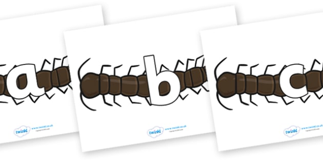Phoneme Set on Centipedes - Phoneme set, phonemes, phoneme, Letters and Sounds, DfES, display, Phase 1, Phase 2, Phase 3, Phase 5, Foundation, Literacy