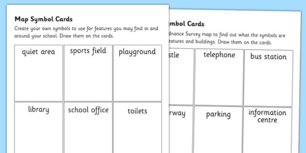 Map Symbol Worksheets - map symbols, maps worksheet, maps, reading maps, ordnance survey, ordnance survey worksheet, ks2 geography, ks2 maps, mapping, ks2