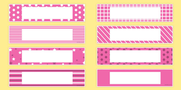 Gratnells Tray Labels Pink - gratnells, labels, pink, trays