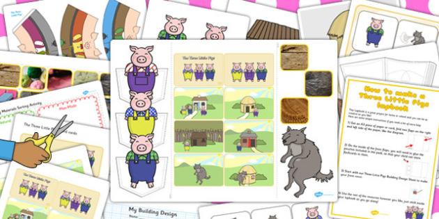 Three Little Pigs Lapbook Creation Pack - lapbook, lapbooks