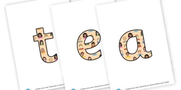 Teamwork - display lettering - Display Lettering Primary Resources, cut out, letters, display