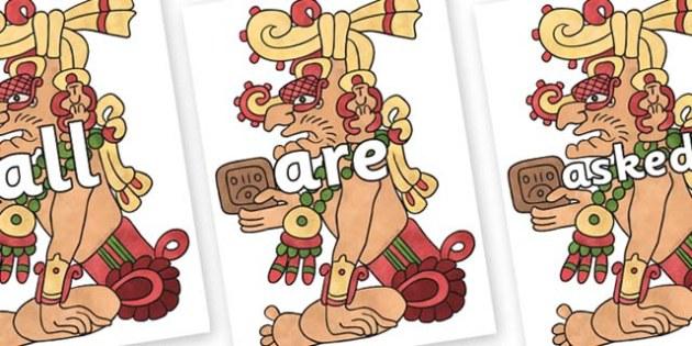 Tricky Words on Kinich Ajaw - Tricky words, DfES Letters and Sounds, Letters and sounds, display, words