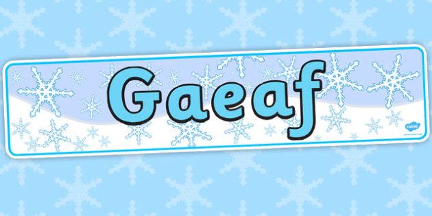 Baner 'Y Gaeaf' - winter, display, banner, gaeaf, tymhorau