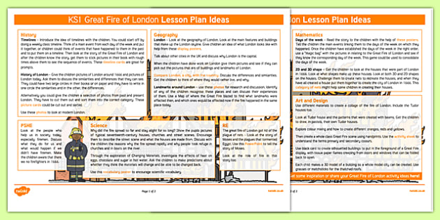 The Great Fire of London Lesson Plan Ideas KS1 - the great fire of london, lesson plan, lesson plan idea, lesson ideas, lesson planning, teaching plan, KS1