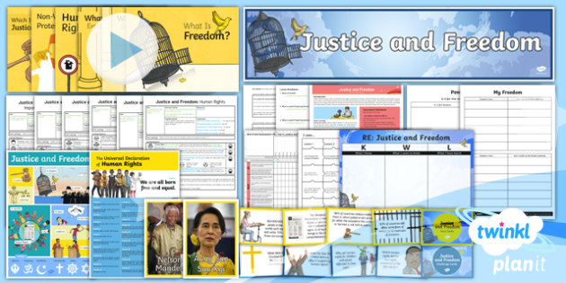 PlanIt - RE Year 6 - Justice and Freedom Unit Pack