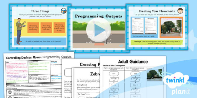 PlanIt - Computing Year 5 - Controlling Devices Flowol Lesson 2: Programming Outputs Lesson Pack