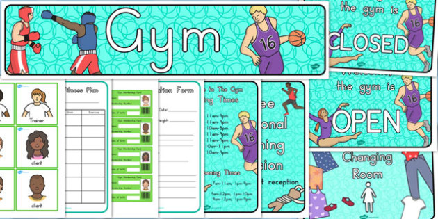 Gym Role Play Pack - health, lifestyle, gyms, fitness, healthy