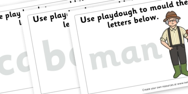The Enormous Turnip Word Playdough Mats - Traditional Tales The Enormous Turnip Primary Resources - Story