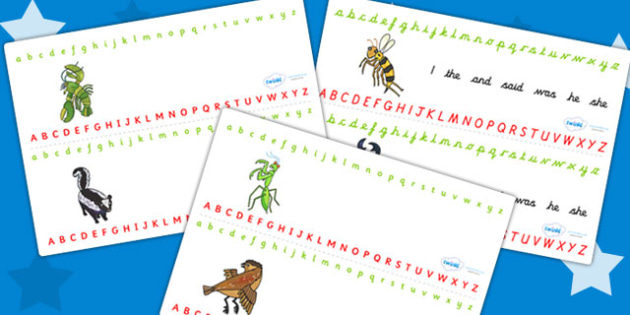Alphabet Strips to Support Teaching on The Bad Tempered Ladybird - a-z strips, visual aid
