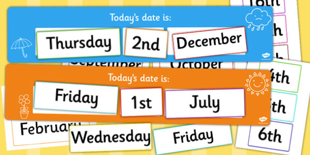 Today's Day and Date Display Pack - date, day, display, pack