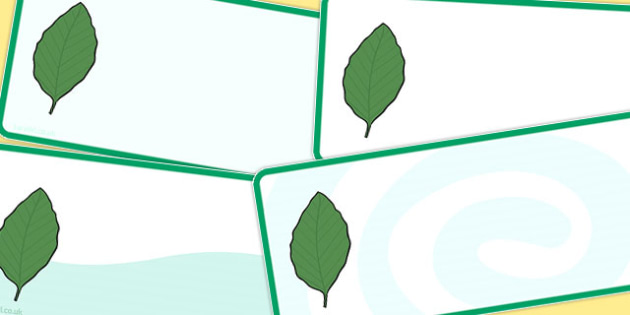 Editable Beech Leaf Drawer Peg Name Labels - trees, signs, labels