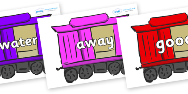 Next 200 Common Words on Carriages - Next 200 Common Words on  - DfES Letters and Sounds, Letters and Sounds, Letters and sounds words, Common words, 200 common words