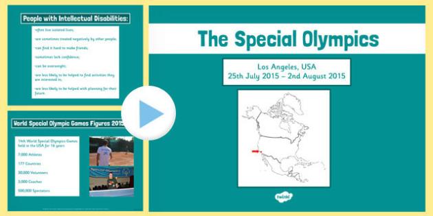 Special Olympics LA 2015 PowerPoint - special, olympics, la