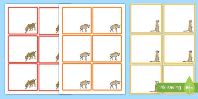 Safari Animal Height Chart Name Labels