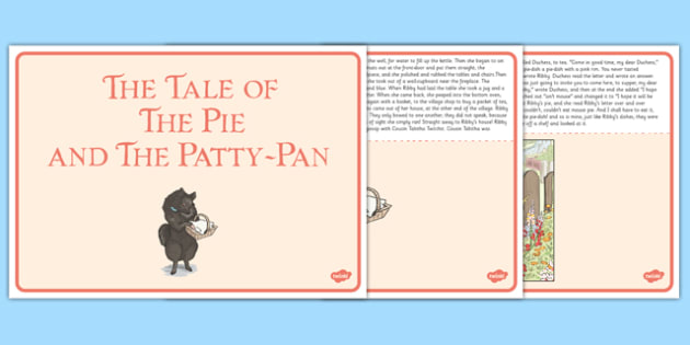 Beatrix Potter - The Tale of the Pie and the Patty Pan Story - beatrix potter, pie and the patty pan, story