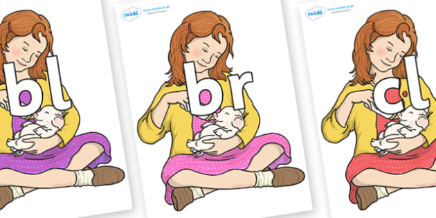 Initial Letter Blends on Fern Arable - Initial Letters, initial letter, letter blend, letter blends, consonant, consonants, digraph, trigraph, literacy, alphabet, letters, foundation stage literacy