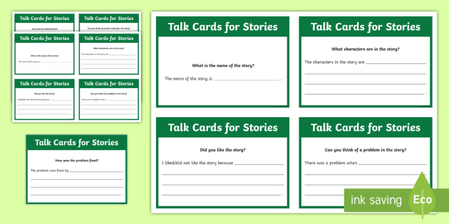 Talk Cards for Stories Flashcards - UAE, adec, moe, speaking, listening, talking, conversation, comprehension